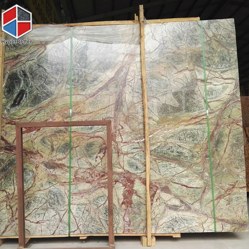 Green Marble Slab : Rainforest green marble slab made in xiamen fujian china