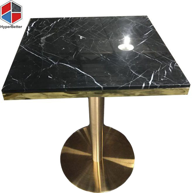 80cm black marble table top and golden base