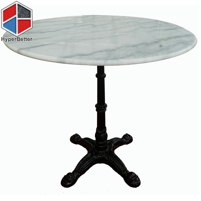 80cm 4person round white marble dining table
