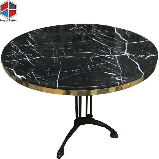 70cm nero marquina round marble dining table