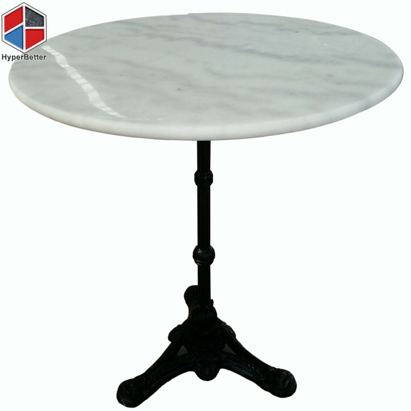 60cm 2person Round White Marble Top, Marble Top Table Round
