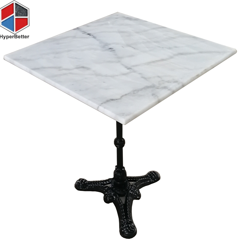 60cm24inch square white marble coffee tables