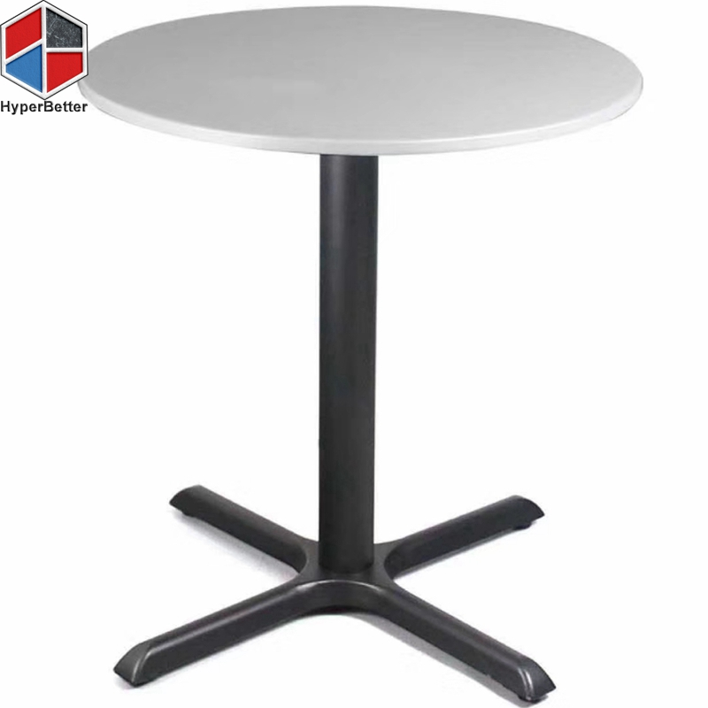 White Round Quartz Bistro Bar Table Top Directly Stone Table Factory