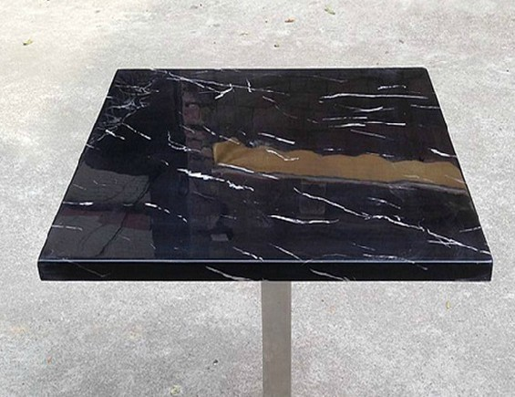 50cm square black marble entry table | Marble table factory