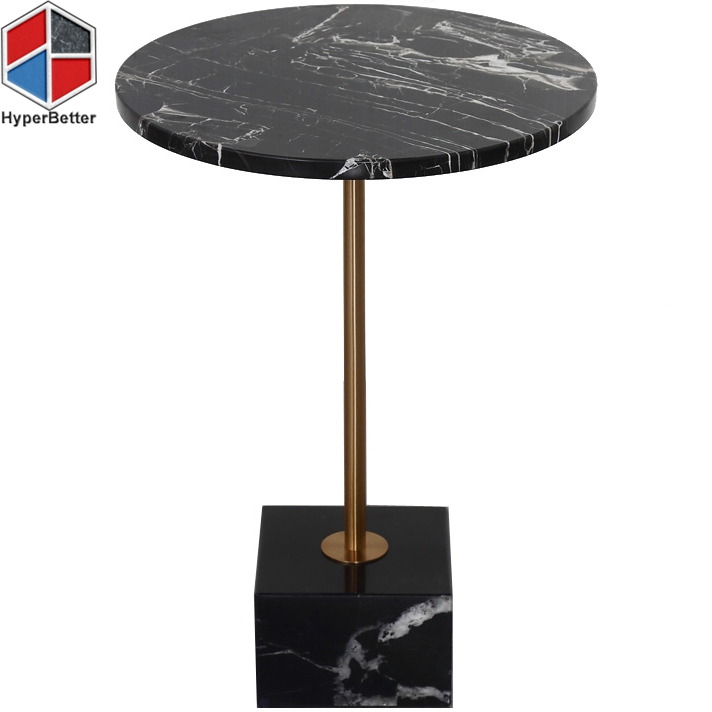 Black Nero Margiua small marble top coffee dining table
