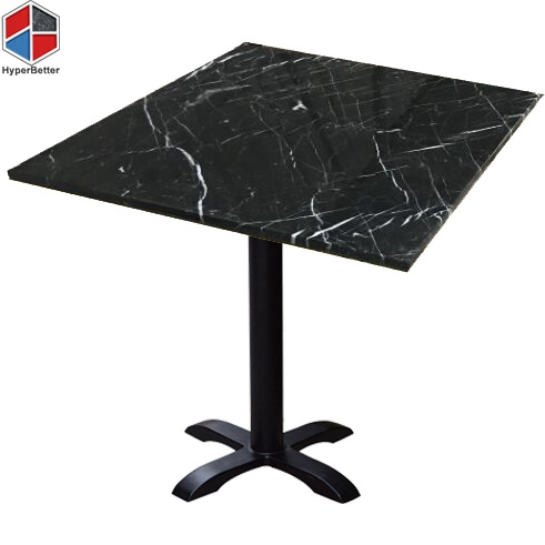 60cm nero marquina black marble side table
