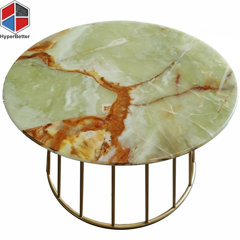 green onyx modern coffee table