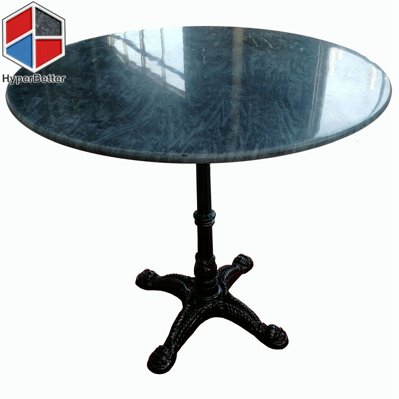Round dark grey marble coffee table top