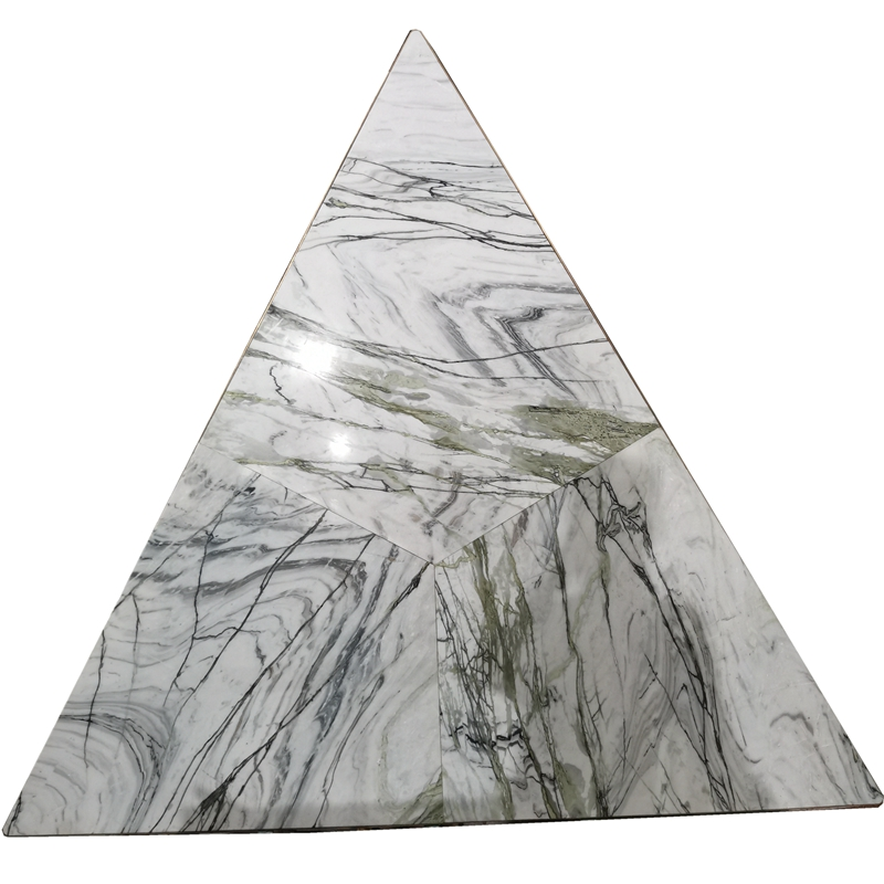 White green marble banquet dining tables