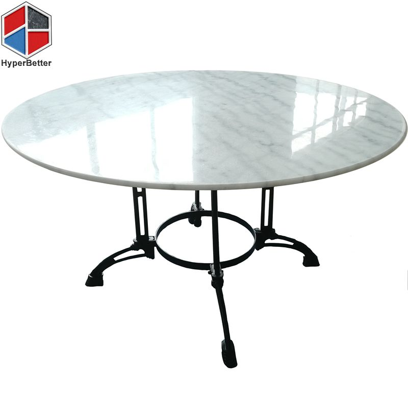 120cm round white marble coffee center table