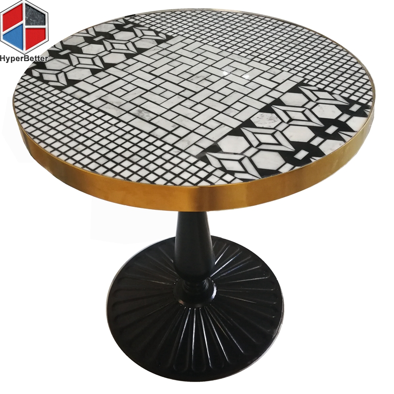 70cm circle creative mosaic marble dining table