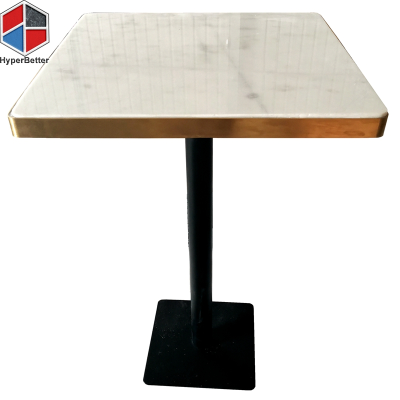 Square white marble table top furniture