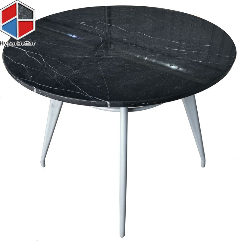 Black marble table top coffee table