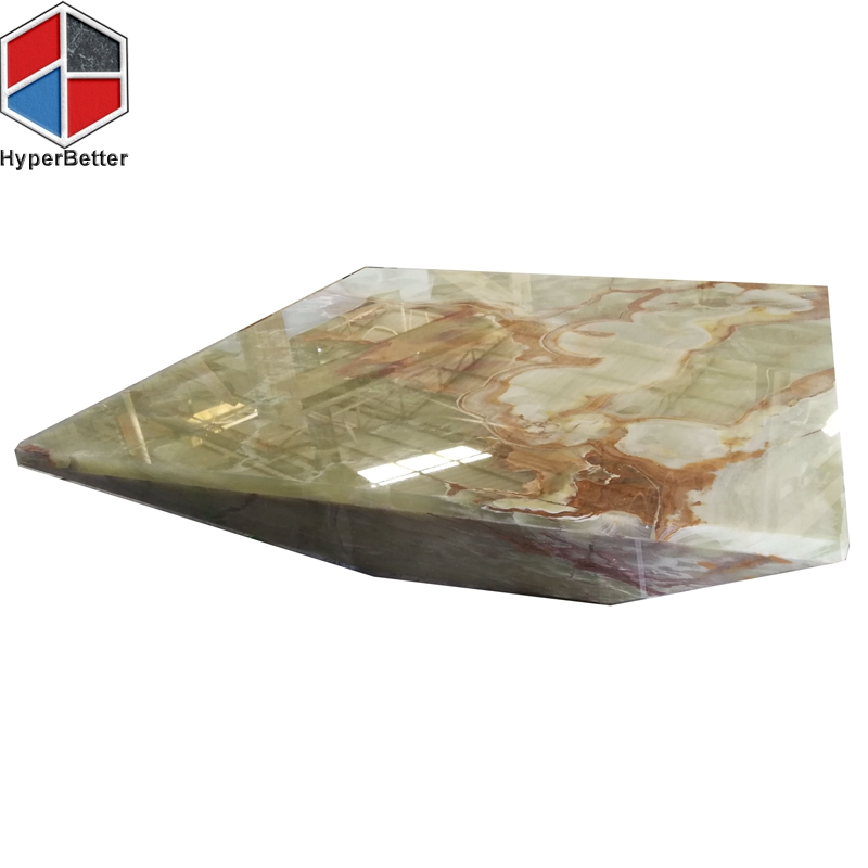 Green onyx solid cube coffee table